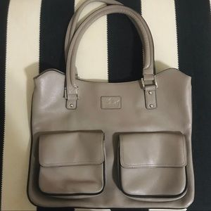 Beakgaard leather purse -grey